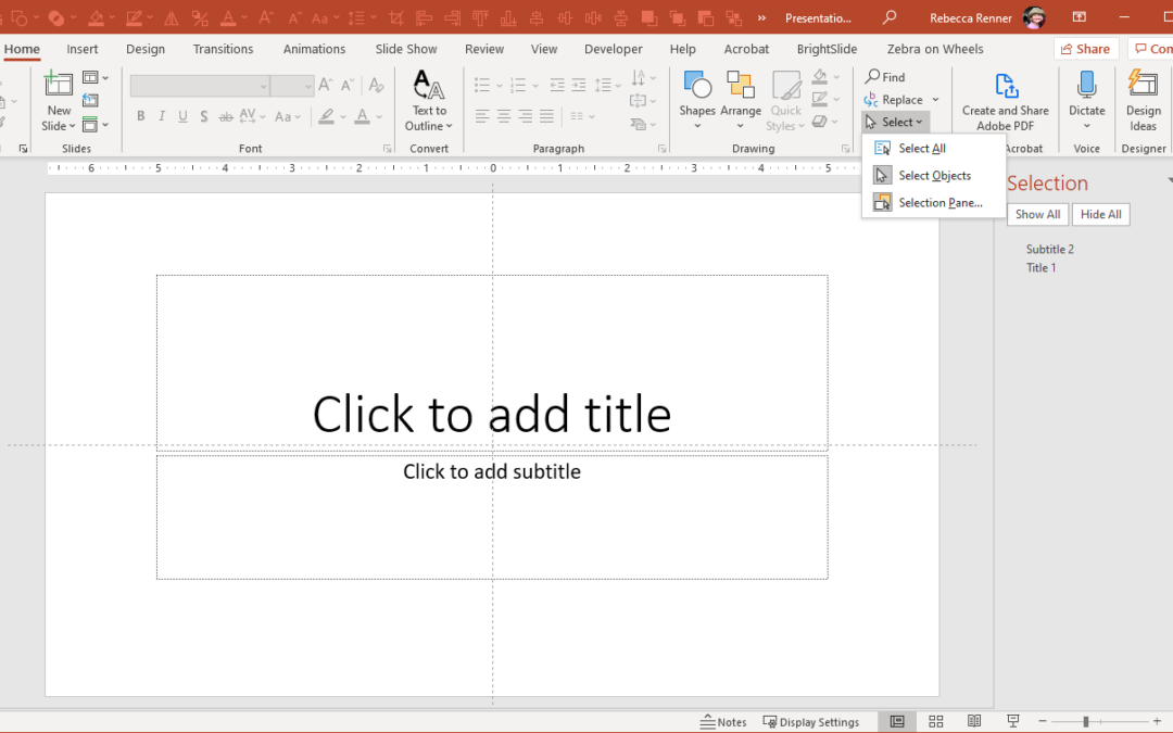 The Most Useful – And Unknown – PowerPoint Tool: The Selection Pane